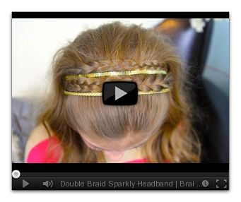 Tutorial On How To Make A Metal Headband Hairstyle Hairstyles - Girl hairstyle video