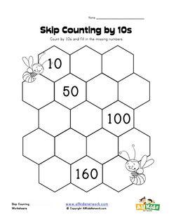 skip counting by ten worksheet skip counting pinterest skip counting kindergarten math. Black Bedroom Furniture Sets. Home Design Ideas