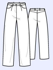 Moldes De Pantalon Jeans De Mujer Para Imprimir Pantalones Jeans Jeans Mujer Moldes De Pantalones