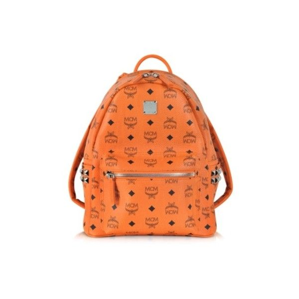 e8addce413db MCM Orange Small Stark Backpack ( 669) ❤ liked on Polyvore featuring bags