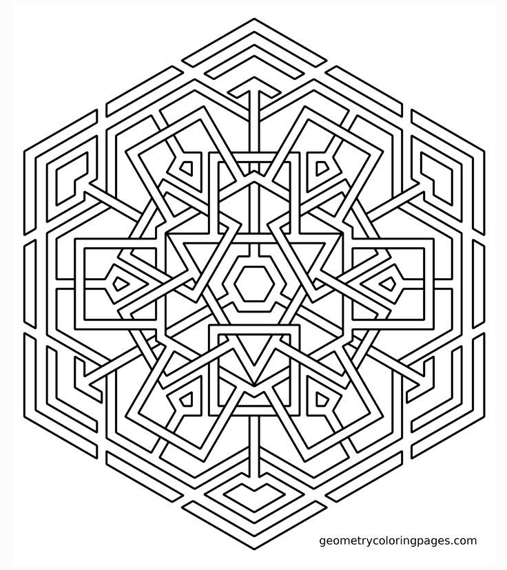 coloring page celtic snowflake sacred geometry - Geometric Coloring Pages