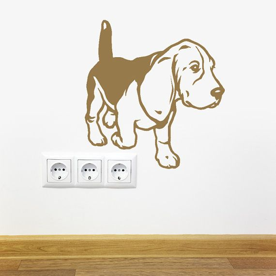 Dog Decal Beagle Walk Vinyl Sticker Decal Good For Walls Cars