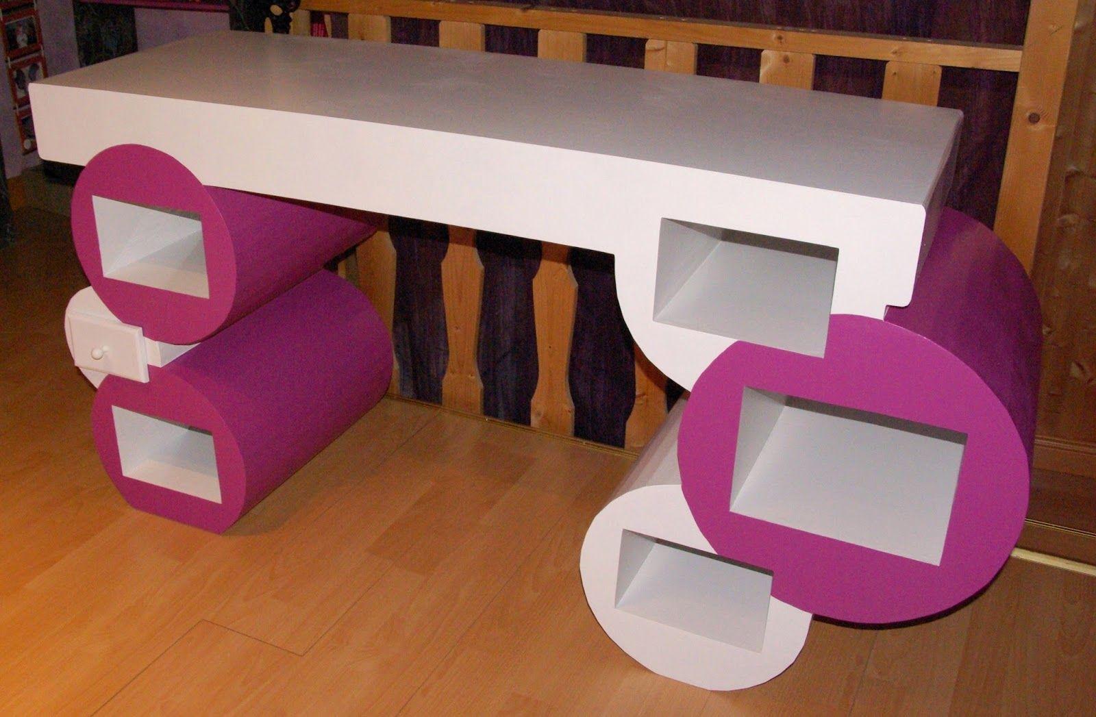 Sabine créa carton bureau en carton meuble cart