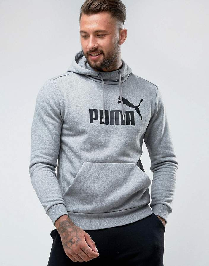 ee7e96d1bbb5 Puma ESS No.1 Pullover Hoodie In Gray 83825703 | Products | Puma ...