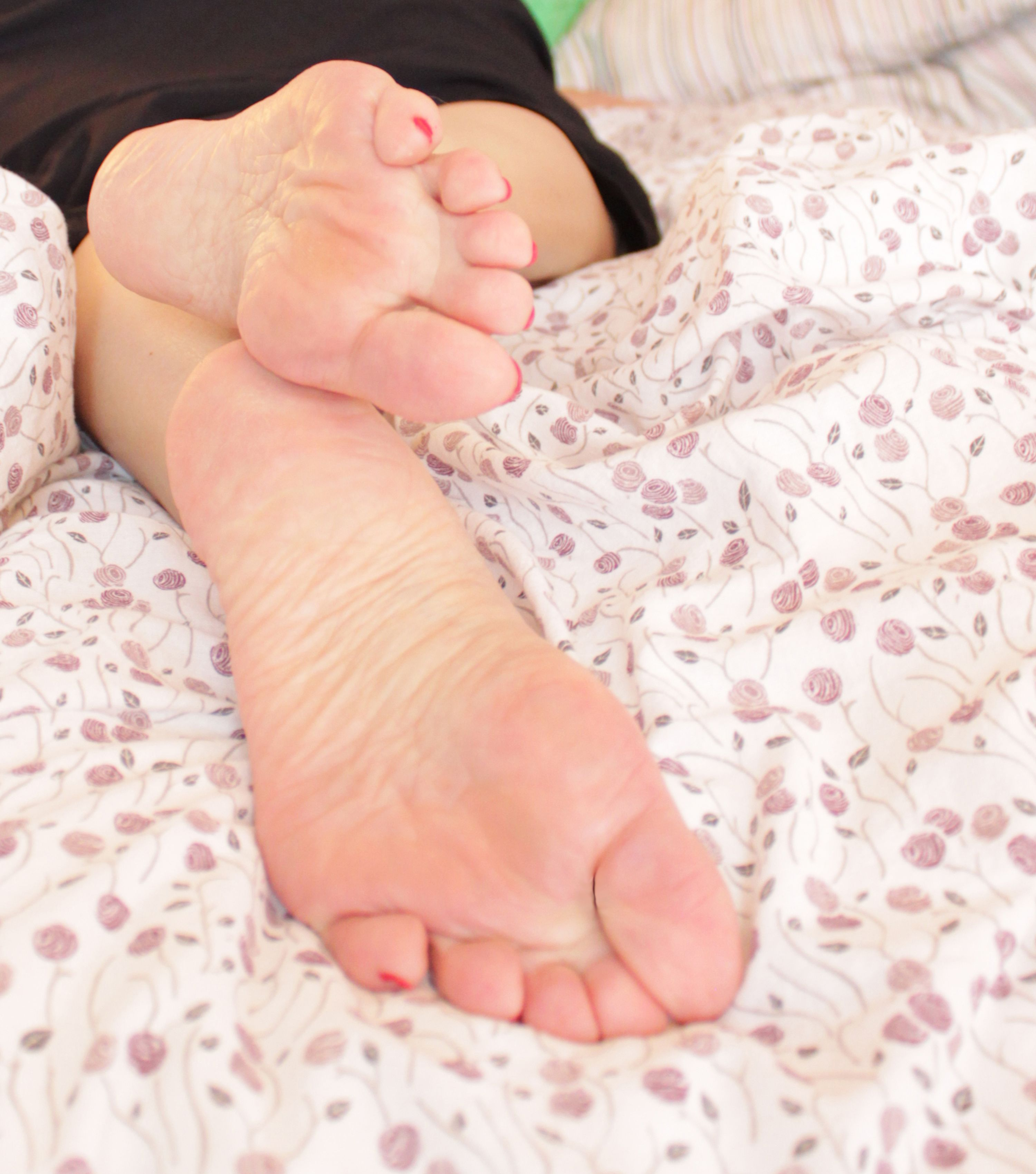 Nylon Füße Lecken