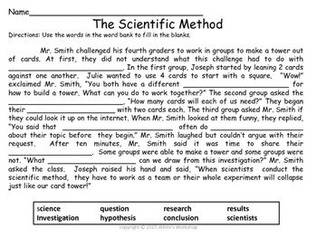 picture relating to Printable Scientific Method Quiz named Medical Tactic Worksheet Science Medical approach