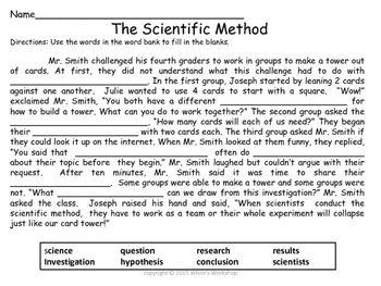 Scientific Method Worksheet Free WhiteS Workshop  WhiteS
