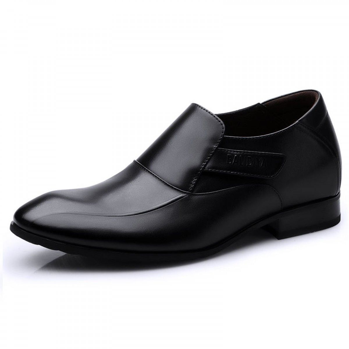 2.36 inches height Increasing Elevator Shoes Formal Slip On Loafers Leather