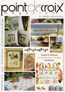 Журналы по вязанию и рукоделию.: Point de Croix Magazine №51 2007   Вышивание крестиком