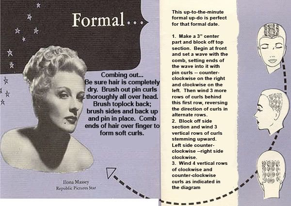 Pin Curl Diagram French Drain Design Curling Patterns Hair Dos Tutorials Pinterest Styles For A Formal Updo Vintage 1940s Hairstyles