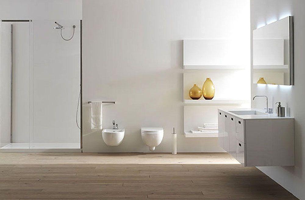 20 Gorgeous Bathrooms With Wooden Floors Bathroom Flooring Options Wood Floor Bathroom Bathroom Furniture Modern