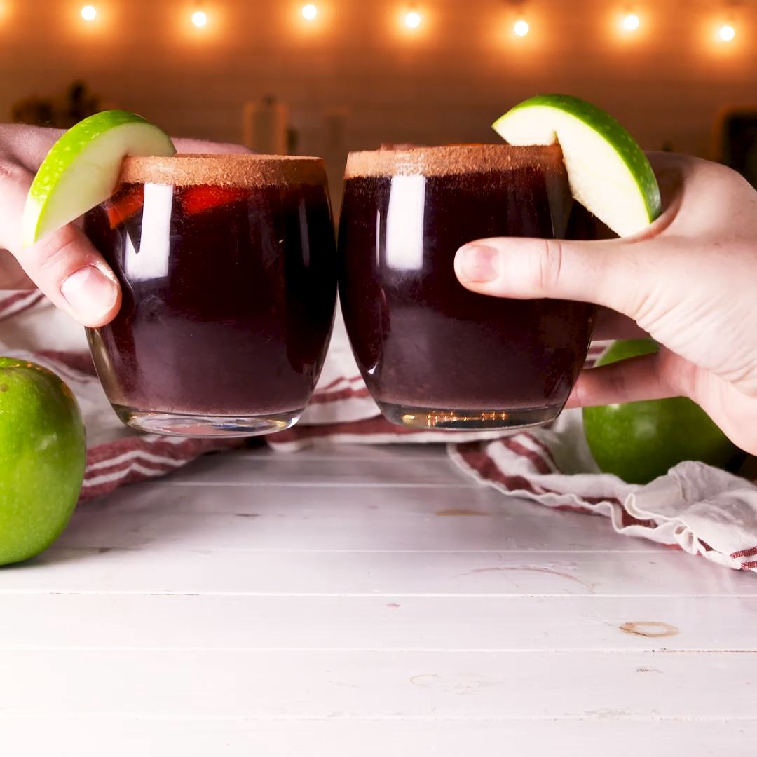 Moscato Apple Sangria We look for an excuse to put apple cider into everything during the fall and this sangria is our best use yet Its our favorite sangria and is perfec...