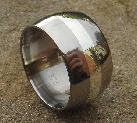 Mens Gold Inlay Titanium Wedding Ring LOVE2HAVE UK