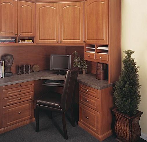 Prestige Kitchen Cabinets: Prestige Corner Angle Office In A Pearwood Finish Melamine
