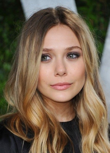 elizabeth Olsen dark blonde balayage
