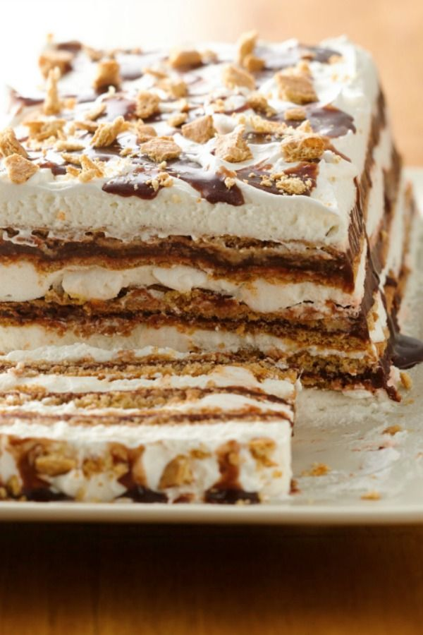 S'mores ice box cake just may be the perfect summer dessert!
