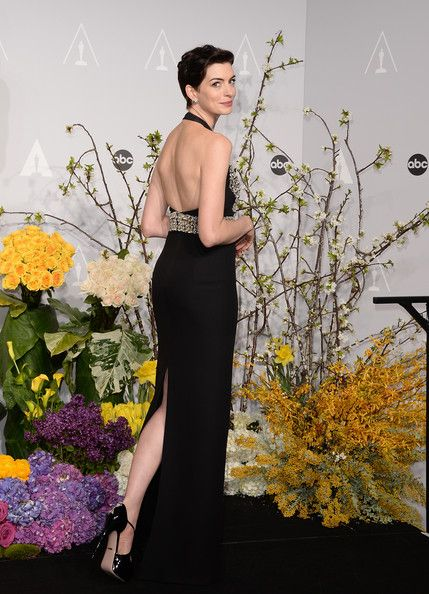 Anne Hathaway Photos Photos: Press Room at the 86th Annual Academy Awards #academyaward