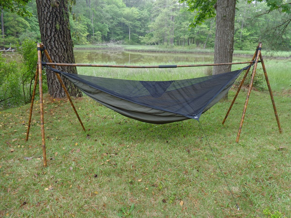 Chair Hammock Stand Diy Samsonite Chairs Geotrek Bamboo Camping Pinterest