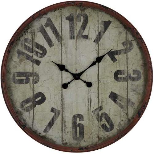 Oleshia 24 Oversized Wall Clock Rustic Wall Clocks Black Wall Clock Wall Clock