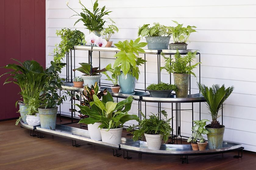 Straight Plant Terrace Plant Stands Gardener S Supply With