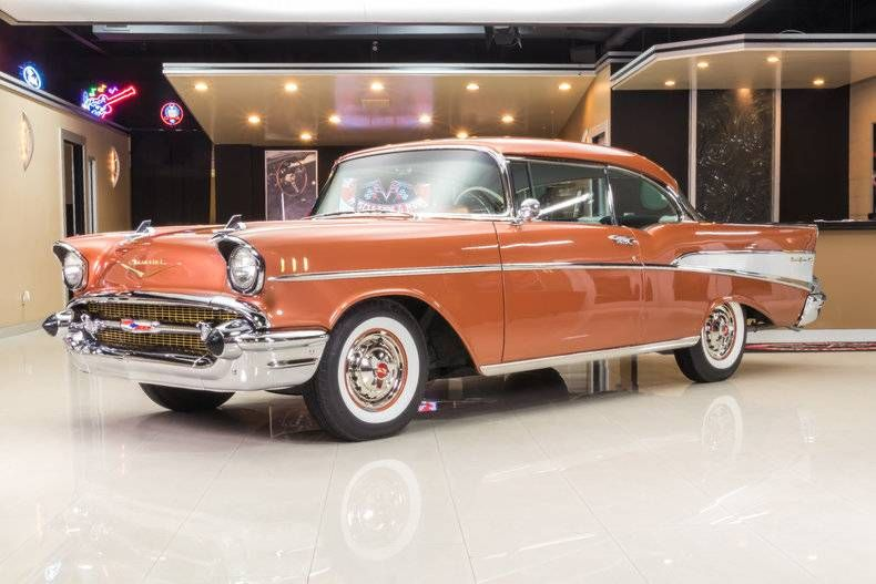 1957 Chevy Bel Air 2dr Hardtop Vintage Muscle Cars Classic Cars