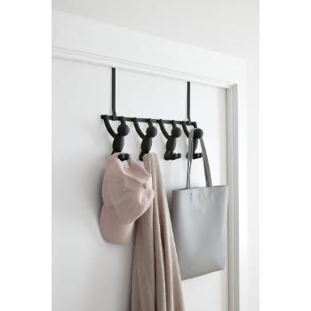 Umbra Set Of 4 Black Buddy Over The Door Hook Trouva Black Buddy Coathangerdesignentry In 2020 Door Coat Hanger Over The Door Hooks Door Hooks