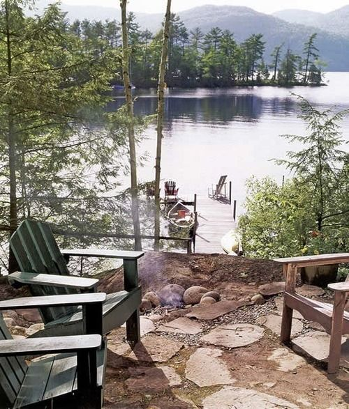 Perfect Setting For Relaxation Backyard Camping Lake