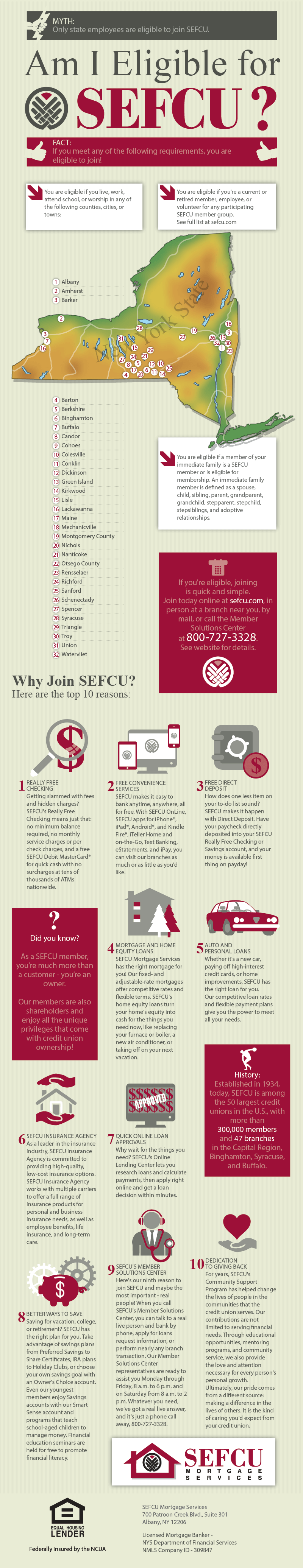 Are You Eligible For SEFCU? #infographic