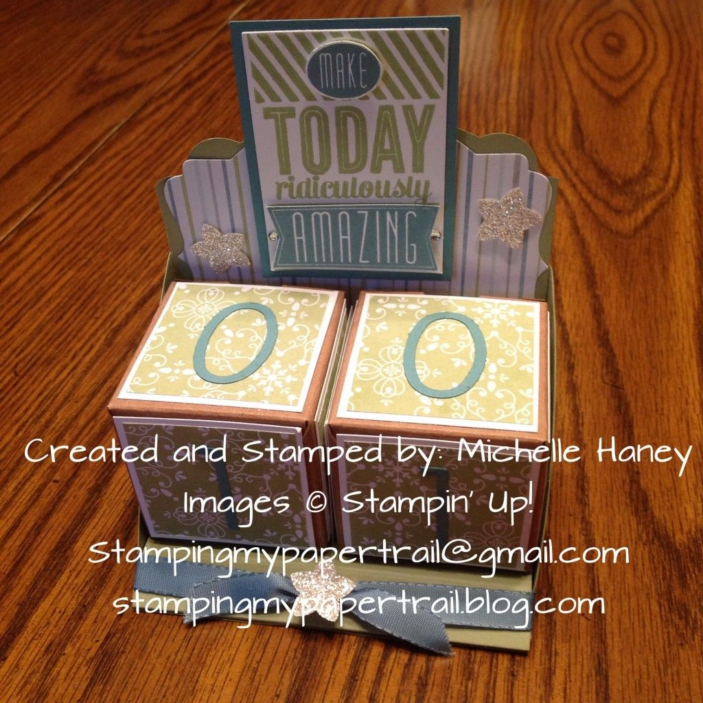 Make Today Ridiculously Amazing Perpetual Calendar Using Stampin Up Birthday Stamp Set