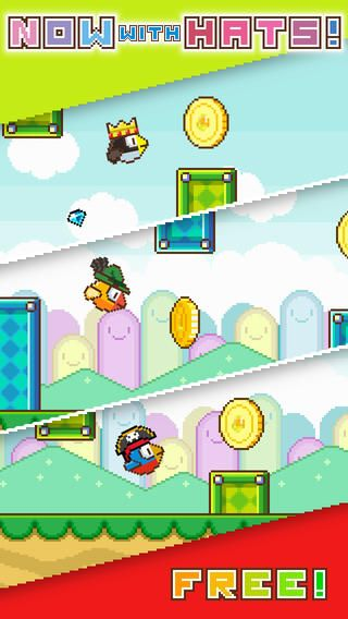 Top Free iPhone App #63: Flappy Wings - FREE - Green Chili Games UG (haftungsbeschrankt) by Green Chili Games UG (haftungsbeschrankt) - 03/29/2014