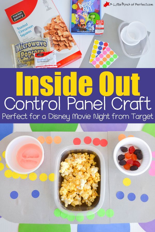 Inside Out Control Panel Craft Perfect for a Disney Movie Night #InsideOutMovieNight #ad