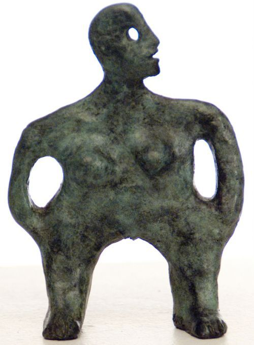 Bronze Stylized People sculpture by artist Isabelle Biquet titled: 'Les mains dans les poches' £217 #sculpture #art