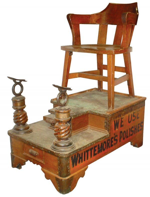 Whittemore S Shoe Shine Stand Chair C 1880 S Vintage Dollhouse