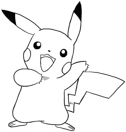 how to draw pikachu saying pika after winning a battle