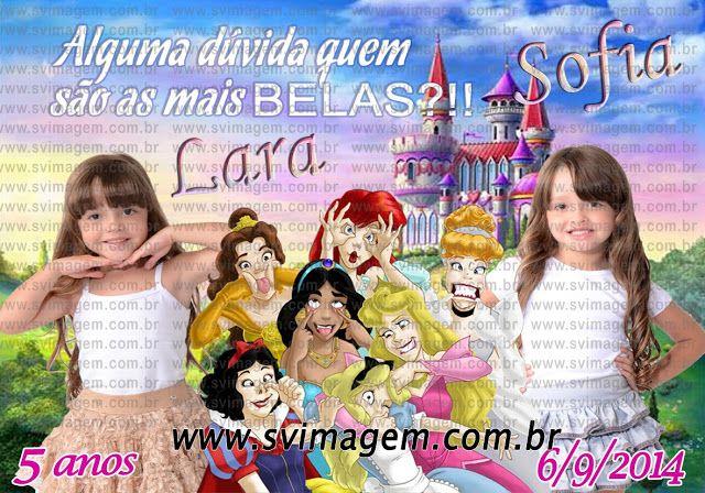 SV Imagem Personalizados - Silmara Vintem: Imã de Geladeira com Calendário das Princesas Disney