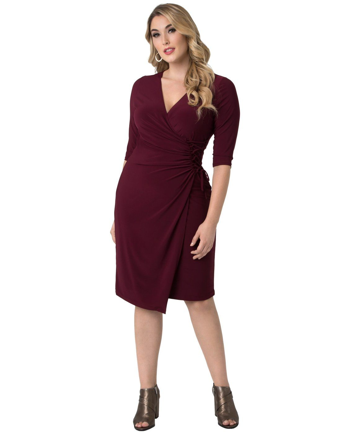 8429e7deae0 Kiyonna Womens Plus Size Vixen Cocktail Dress 1X Pinot Noir     Want to  know more