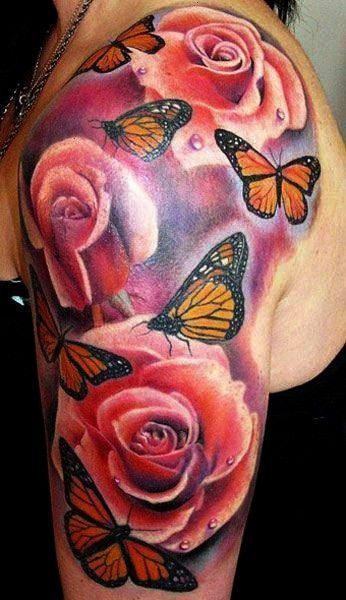 Photo of #tattooformenmeaningful #halfbutterflytattoo #tattooformenonchest #halfsleevetat …