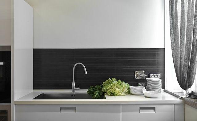 Spritzschutz Kuche Ideen Schwarze Tafelfarbe Metall Kuchenruckwand