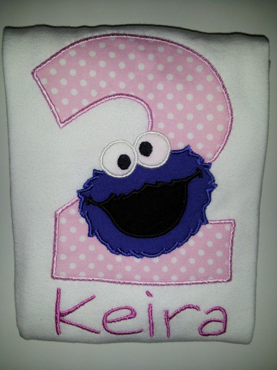Personalized Cookie Monster Birthday Onesie or by babymodern, $24.95