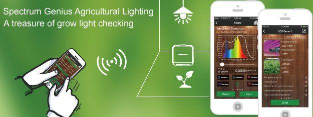 SGAL Spectrum Genius Agricultural Lighting App. Mit dem Smart Spectrometer Lighting Passport den Pflanzenwach… | Pflanzenbeleuchtung. Erstes ...