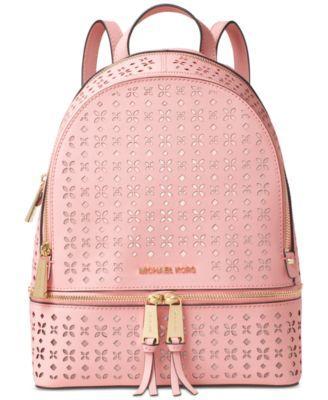 408c81b60236f MICHAEL KORS Michael Michael Kors Rhea Zip Medium Backpack.  michaelkors   bags  leather  lining  pvc  backpacks  polyester