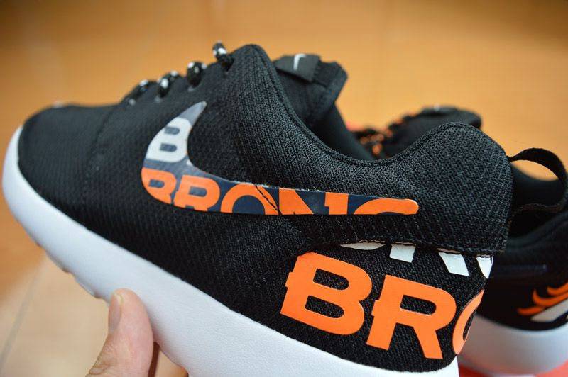 free shipping 08a55 bbd90 New Release Nike Roshe Running Denver Broncos Black Orange Shoes... Oh snap  I need these.