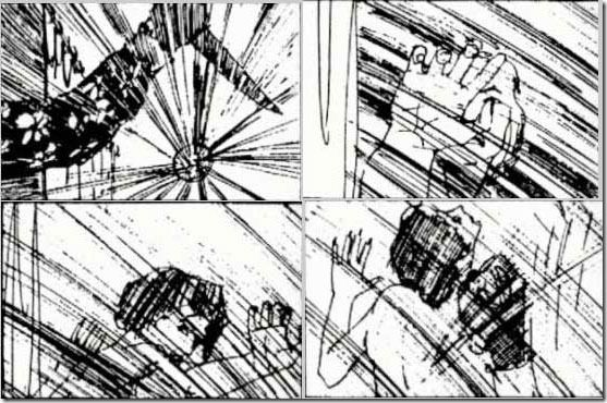 Saul Bass Storyboard For Shower Scene Psycho A Visual