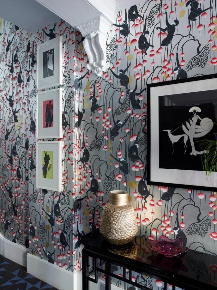 papier peint de couloir singes peintures abstraites couloir pinterest voir les. Black Bedroom Furniture Sets. Home Design Ideas