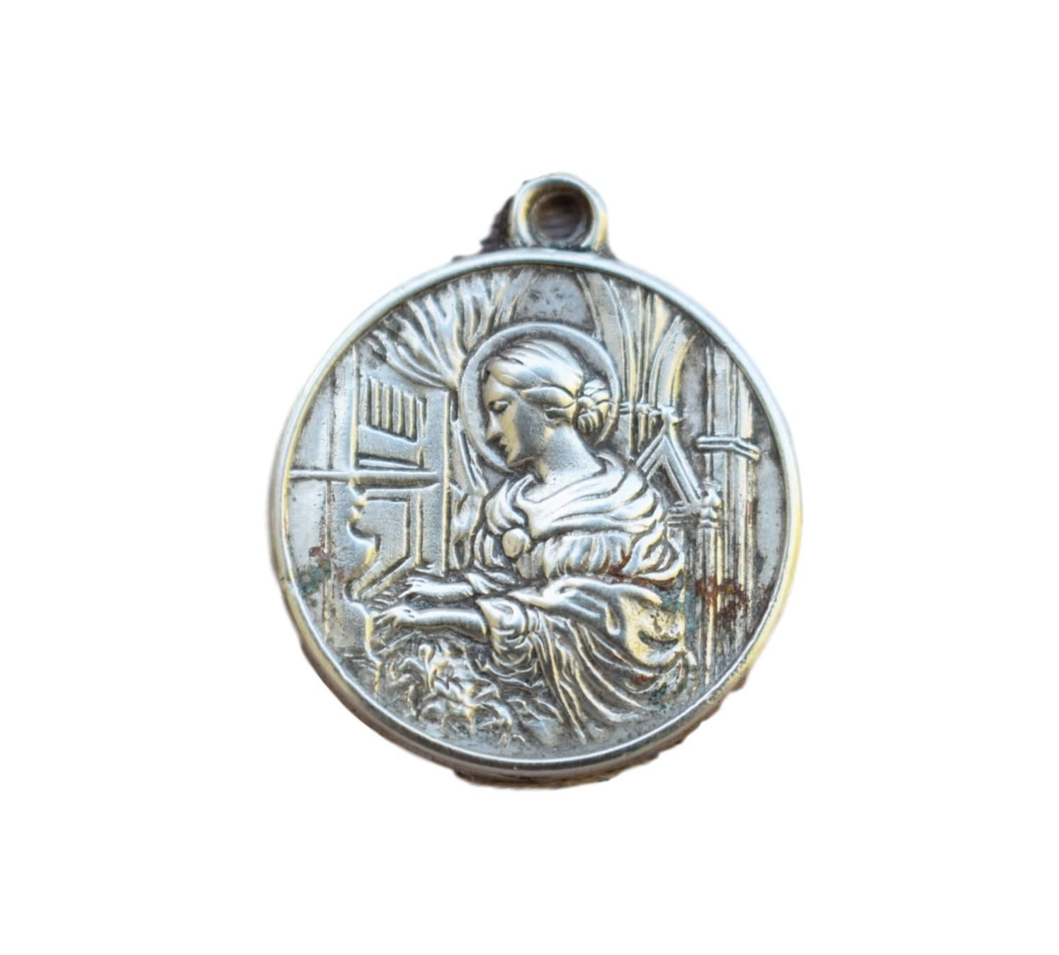 sterling medallion nativity baby dp amazon pendant quot scene com necklace jesus baptism silver