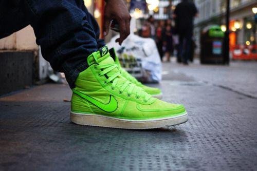 lime green nike high tops  851e6c67c