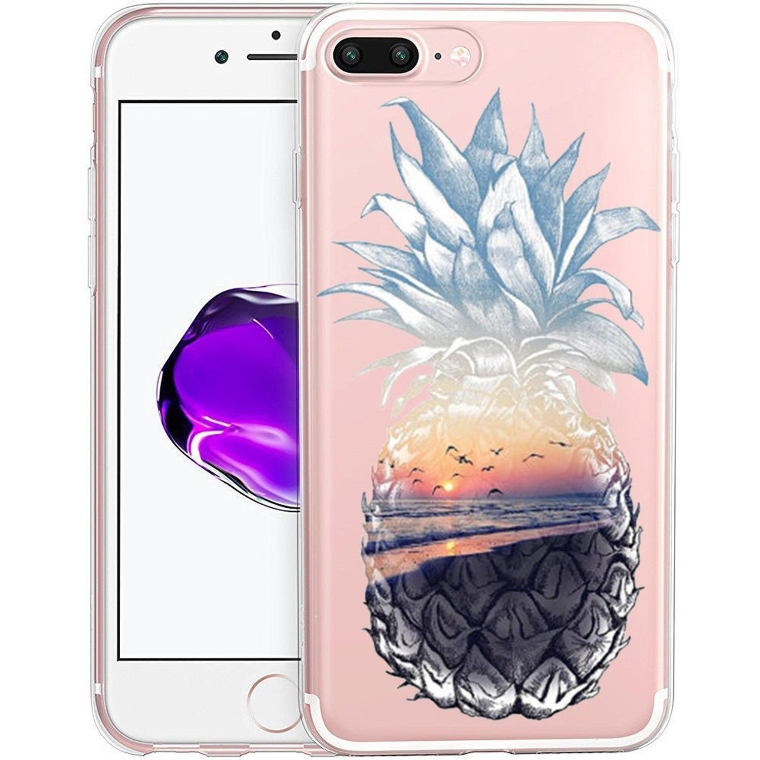 TROPICAL ISLAND SUNSET New Cute Pineapple Phone Cover Case