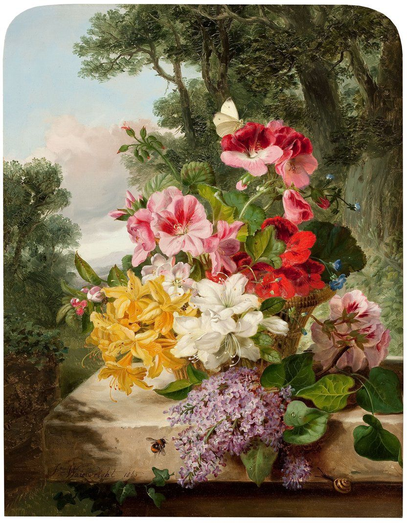 Beautiful Flower Painting Beautiful Flowers Pinterest Still