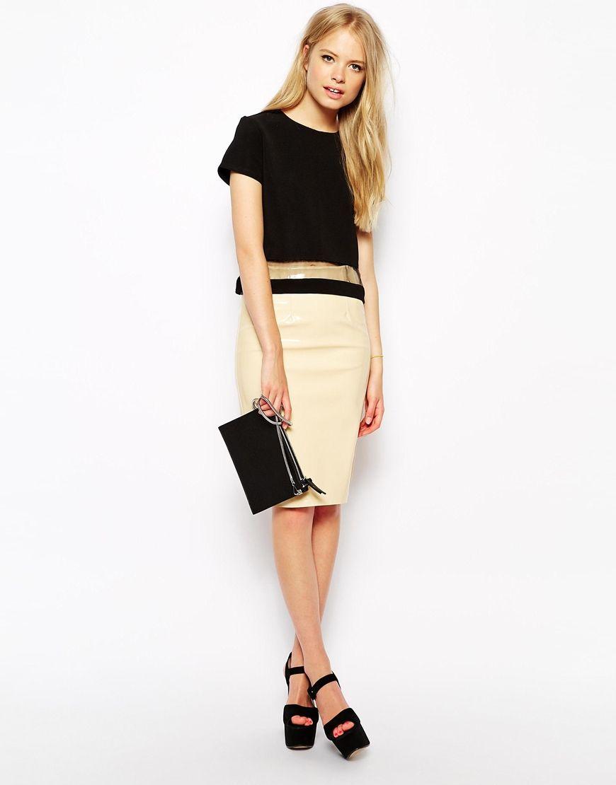 Fashion Union - Jupe fourreau en PU 28,99 € MAINTENANT 7,99 €