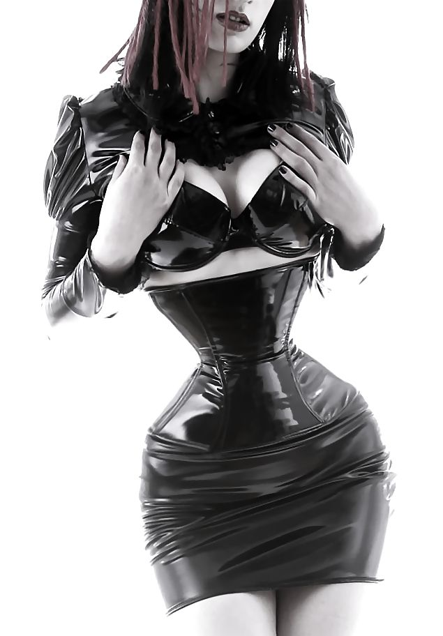 Latex and ballet heels : Photo | Corseted | Pinterest